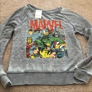 Marvel small s crewneck sweatshirt burn out new